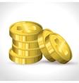 saint patrick day coins vector image
