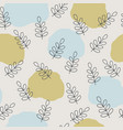 scandinavian nature pattern design vector image vector image