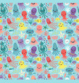 sea cute pattern vector image vector image
