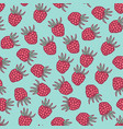 seamless pattern with berries in retro colors vector image vector image