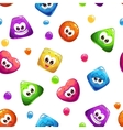 Seamless pattern with jelly characters vector image vector image
