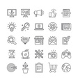 set of 25 icons and signs vector image vector image