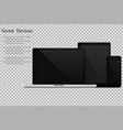 set of realistic laptops tablets and mobile vector image vector image