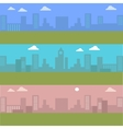 Set of Urban Cityscape Silhouettes of Buildings vector image vector image