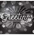 slogan bokeh xmas greetings vector image vector image
