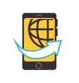 smartphone technology worldwide isolated vector image