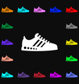 Sneakers icon sign Lots of colorful symbols for vector image vector image
