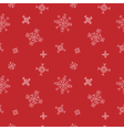 Snowflakes seamless pattern Red snow christmas vector image vector image