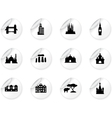 Stickers with landmark icons vector image vector image