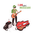 street music performer composition vector image vector image