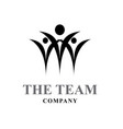 success team business logo designs vector image
