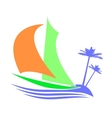 Symbolic image of a sailboat the Islands vector image vector image