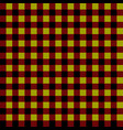 tablecloth in cage red yellow and black color vector image