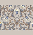 vintage bellflowers pattern vector image