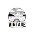 vintage lake logo design vector image