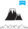 volcano icon isolated vector image vector image