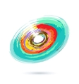 Watercolor Abstract Object vector image vector image