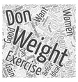 What Can Women do to Gain Weight Word Cloud vector image vector image