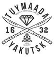 Yakutsk typography t-shirt graphics vector image