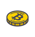 yellow bitcoin coin vector image vector image