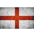 Mosaic flag of England vector image