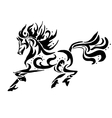Black horse coloring vector image