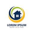 home realty modern logo vector image