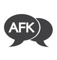 afk internet acronym chat bubble vector image