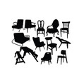 antique chair silhouettes vector image