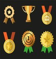 Awards icons symbol set vector image