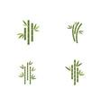 bamboo logo template icon vector image