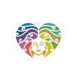 beauty salon logo icon emblem template vector image