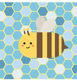 Bee in Blue Beehive vector image vector image