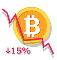 bitcoin depreciation chart vector image