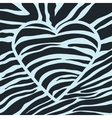 black heart with stripes vector image vector image