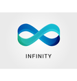 Blue abstract infinity endless symbol and icon vector image vector image