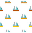 boat pattern seamless vector image vector image