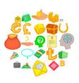bond icons set cartoon style vector image vector image