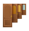 brown entrance doors vector image