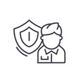 business insurance linear icon sign symbol vector image