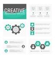 business presentation template slides vector image