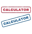 Calculator Rubber Stamps vector image vector image