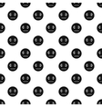 Calm smiley pattern simple style vector image vector image