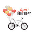 Cartoon bike with balloons vector image vector image