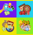 casino online banner includes vector image vector image