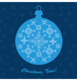 Christmas ornament ball new year decoration blue vector image vector image