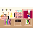 Clothing store Woman clothes shop and boutique vector image vector image