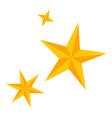colorful cartoon christmas stars set vector image
