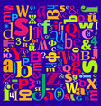colorful letters background vector image