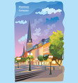 colorful view of the church in hamburg vector image vector image